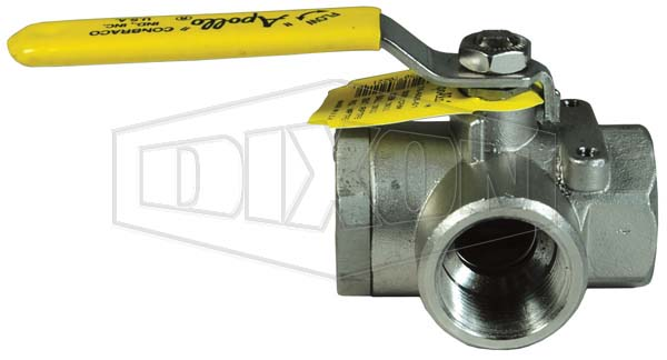 3-way Stainless Steel Diverting Ball Valve