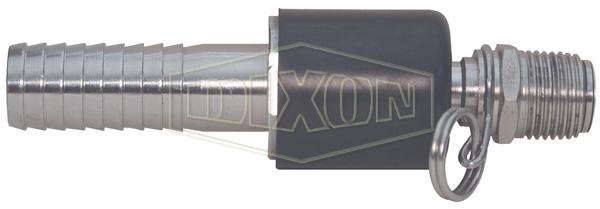 Ball Type Swivel x Hose Shank Connector for Spray Gun