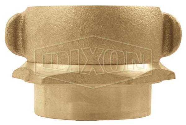 Open Snoot Brass Female Swivel Adapter - Rocker Lug