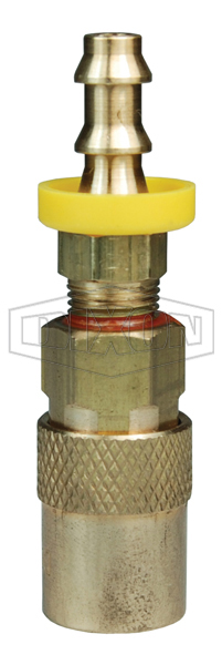 DQC CM-Series Industrial Mold Interchange Unvalved Coupler Push-Loc Barb