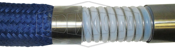 Convoluted PTFE with External Vacuum Wire and Polypropylene Braid