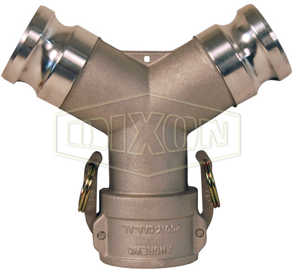 Cam & Groove Coupler x Adapter Wye