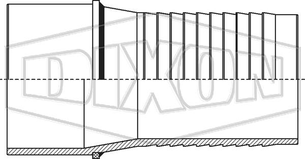 Holedall™ External Swage Plain End Stem for Welding