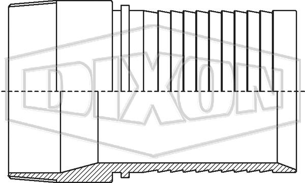 Holedall™ External Crimp Male Thread Stem