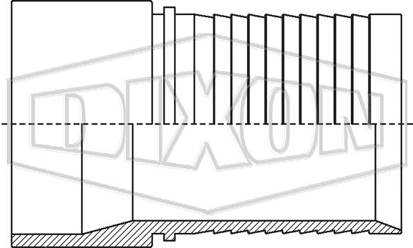 Holedall™ External Crimp Plain End Stem for Welding