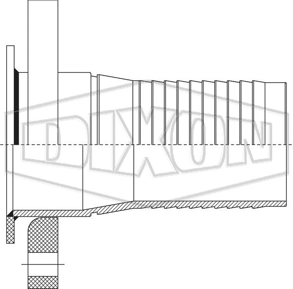 Holedall™ External Crimp Flanged Stem