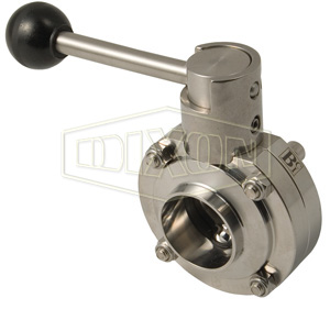 B5107-Series Butterfly Valve with Pull Handle Weld End