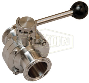B5107-Series Butterfly Valve with Pull Handle Clamp End