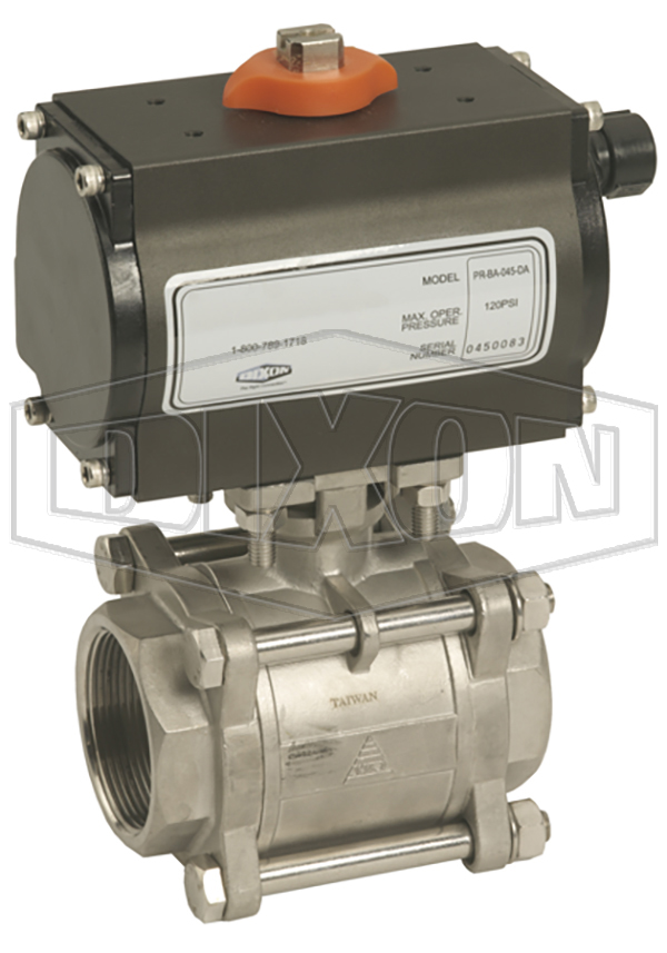 Ball Valve with double acting actuator and solenoid