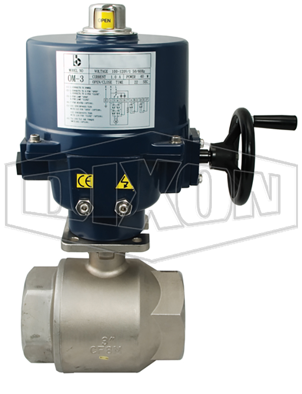 BV2HG Series Electrically Actuated Stainless Steel Ball Valves 2-Piece