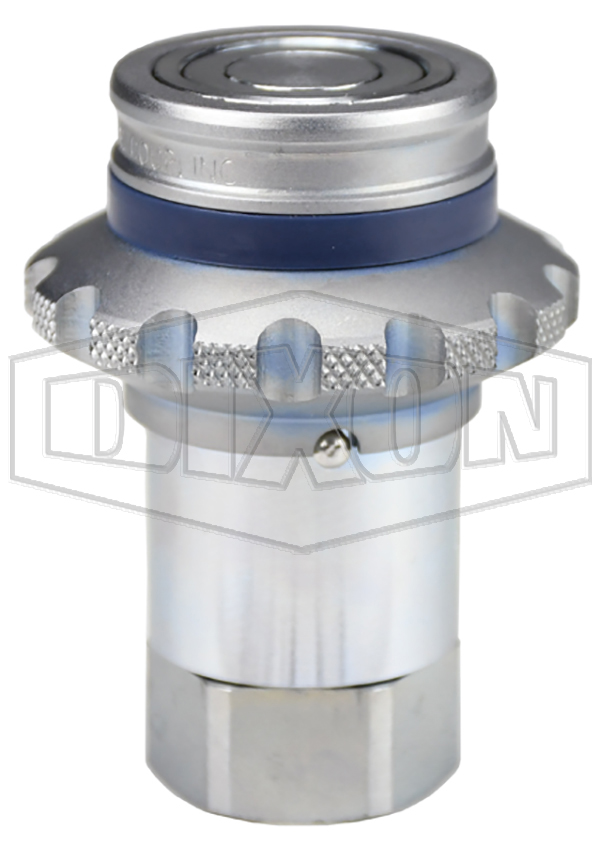 DQC HT-Series Correct Connect® Flushface Flange Sleeve Female Threaded Coupler