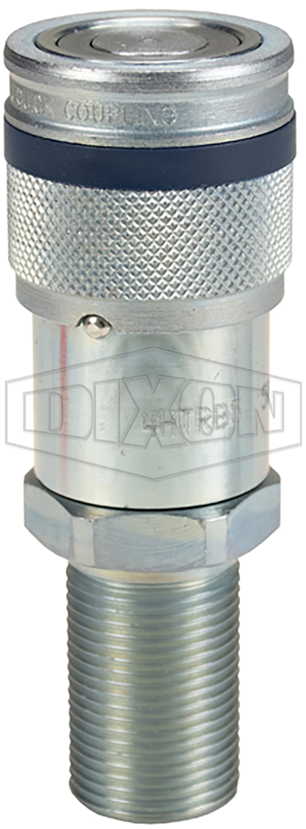 DQC HT-Series Correct Connect™ Flushface Male Threaded Bulkhead Coupler