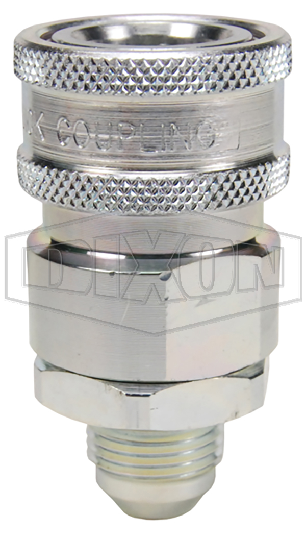 v series hydraulic couplings quick disconnects hydraulic fittings snap tite h ih interchange valved male threaded coupler JIC